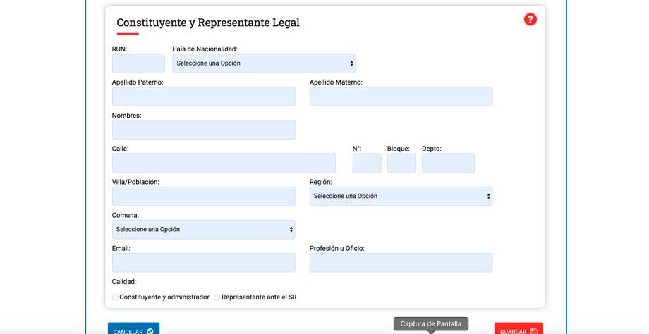 Paso 9 crear una eirl Registra tus datos