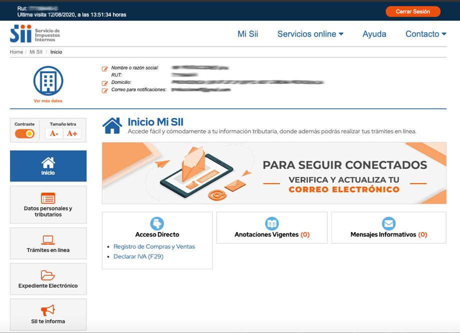 centralizar certificado paso 2 Selecciona la opción Servicios online